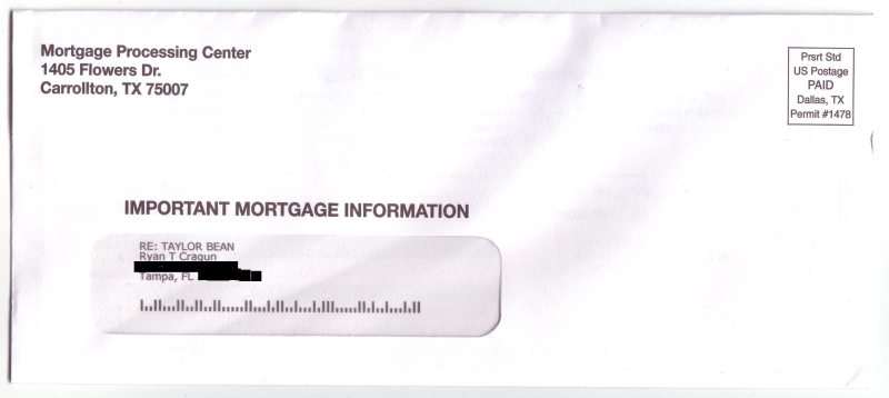 mortgage insurance envelope