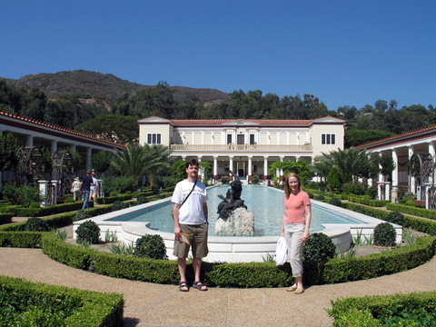 getty villa us by pool