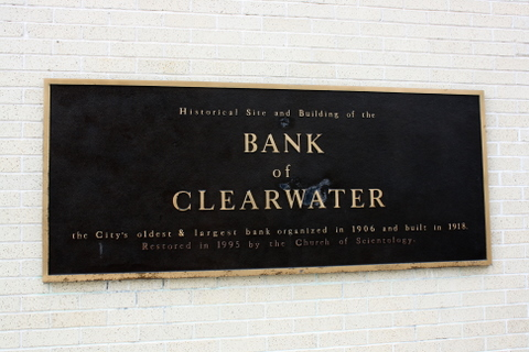Bank of Clearwater plaque