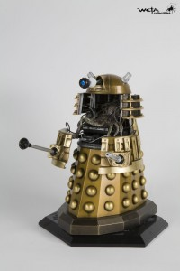 a Dalek from Dr. Who, opened to reveal the creature controlling the robot