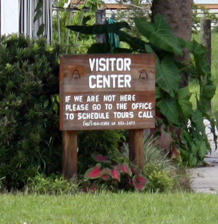 the sign at the visitor's center