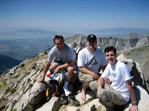 Tom, Mark, and me at the summit