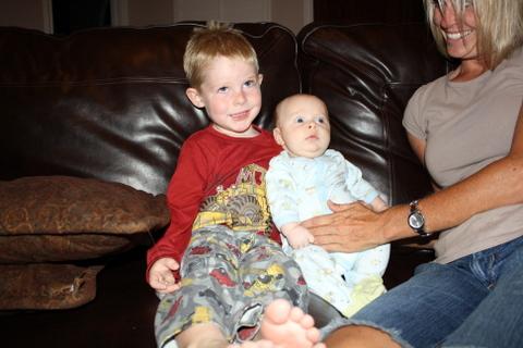 Connor holding Toren