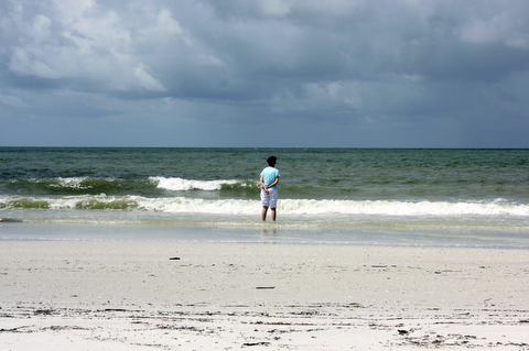 I liked this shot of Rosemary just enjoying the beach