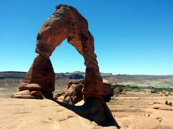 Debi, Toren and I at Delicate Arch