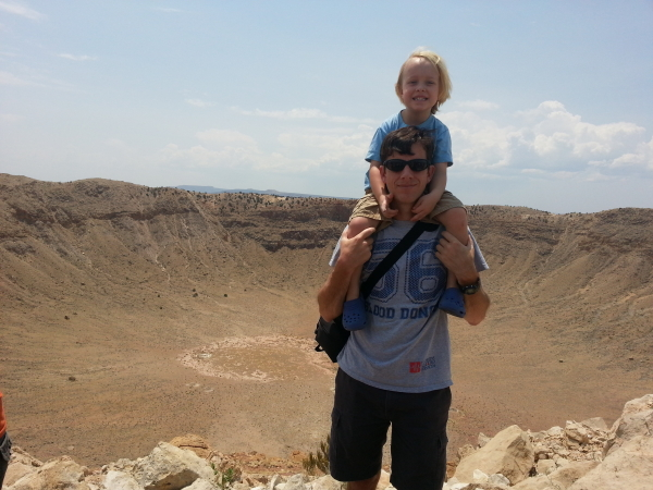 Toren and I at the Barringer Crater.