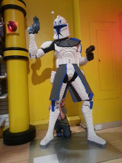 Toren behind a Lego Clone Trooper