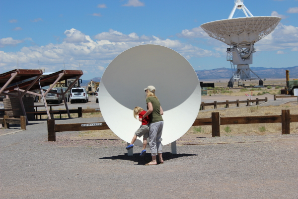 Toren liked the display of parabolic dishes that allowed you to hear whispers from about 25 meters away.
