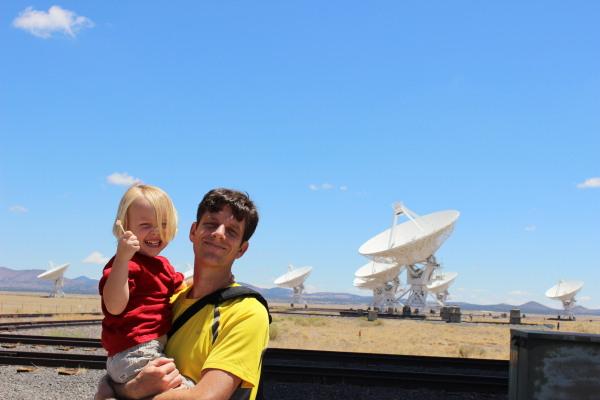 Toren and I checking out the VLA.