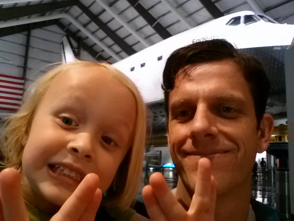 Toren and I in front of Endeavour