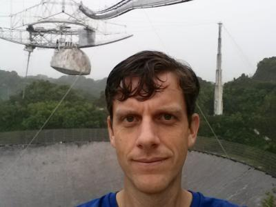 At the Arecibo Observatory.