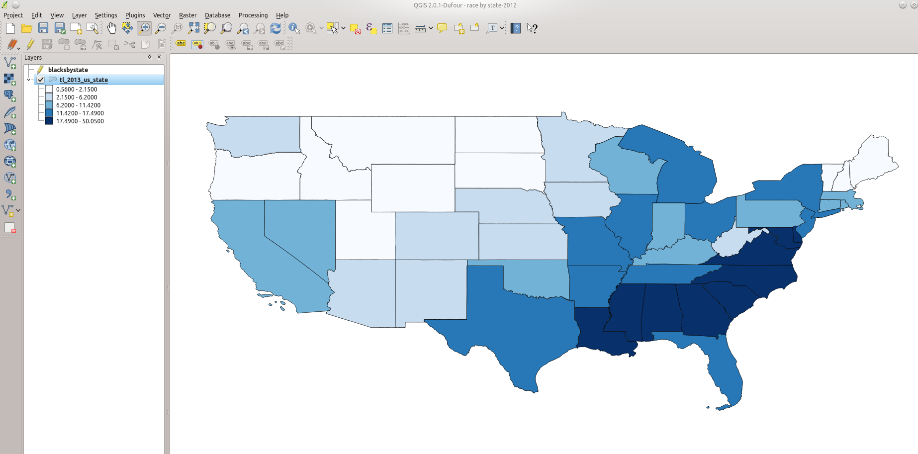 Once You Re Ready Click Ok And Watch Your Map Change To Reflect Color Coded Values Based On Your Variable