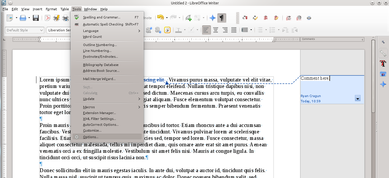 LibreOffice: Printing with Comments in Margins – Ryan and
