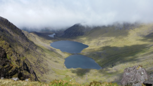 The valley below Carrauntoohil once the clouds clear.
