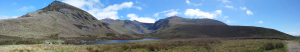 A panorama of the three peaks.