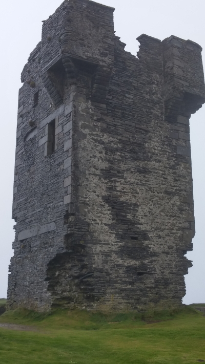 Moher Tower on Hag's Head cliff.