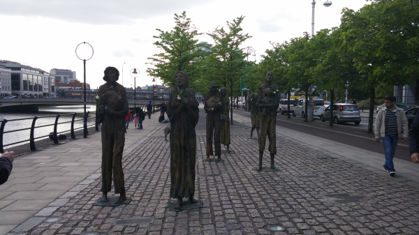 The Famine Memorial in Dublin.
