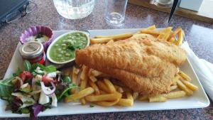 Fish and chips at the Killarney Golf and Fishing Club.