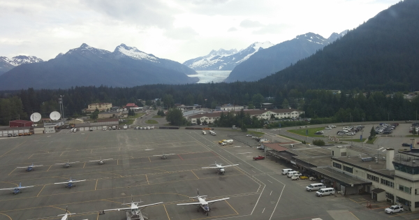 Mendenhall Glacier from the airport