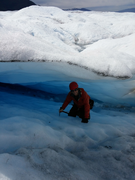me in an ice overhang (not exactly a cave)