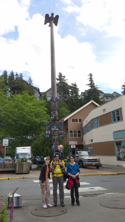 A groovy totem pole in Ketchikan.