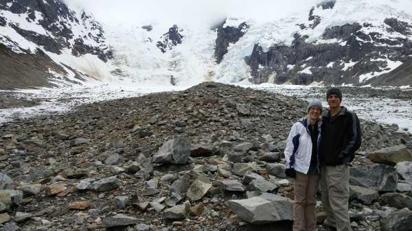 Where we had lunch on the Laughton Glacier.