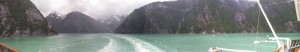 panorama of Tracy Arm Fjord