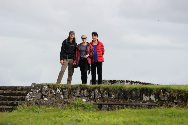 Ryan, Debi, and Rosemary at Þingvellir National Park