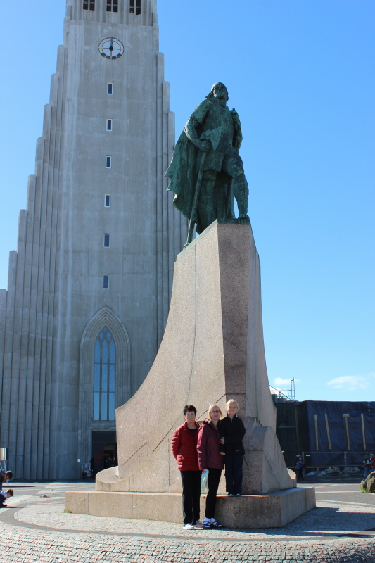 Rosemary, Toren, and Debi at Hallgrimskirkja