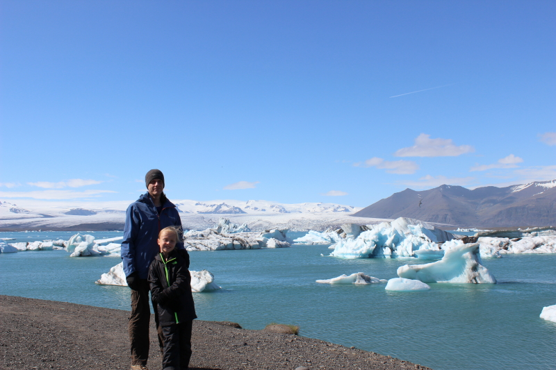 Ryan and Toren at Jokulsarlon Lagoon