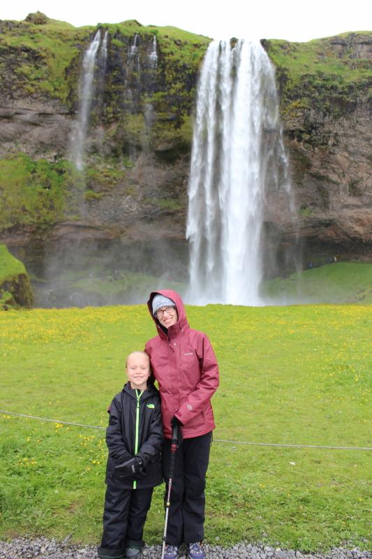 Debi and Toren at Seljalandfoss