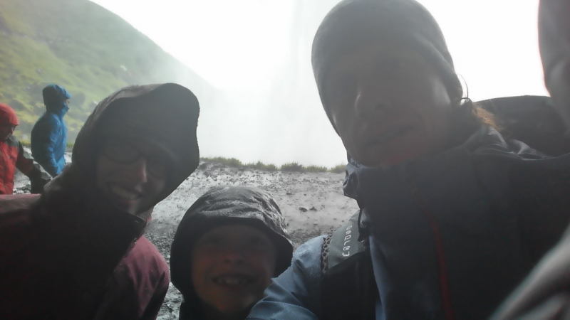 Debi, Ryan, and Toren at Seljalandfoss