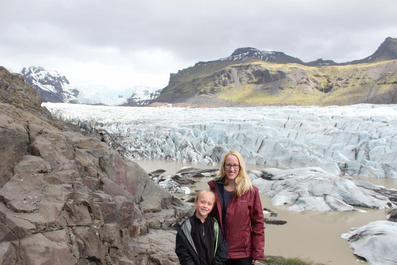 Toren and Debi at Vatnajökull glacier