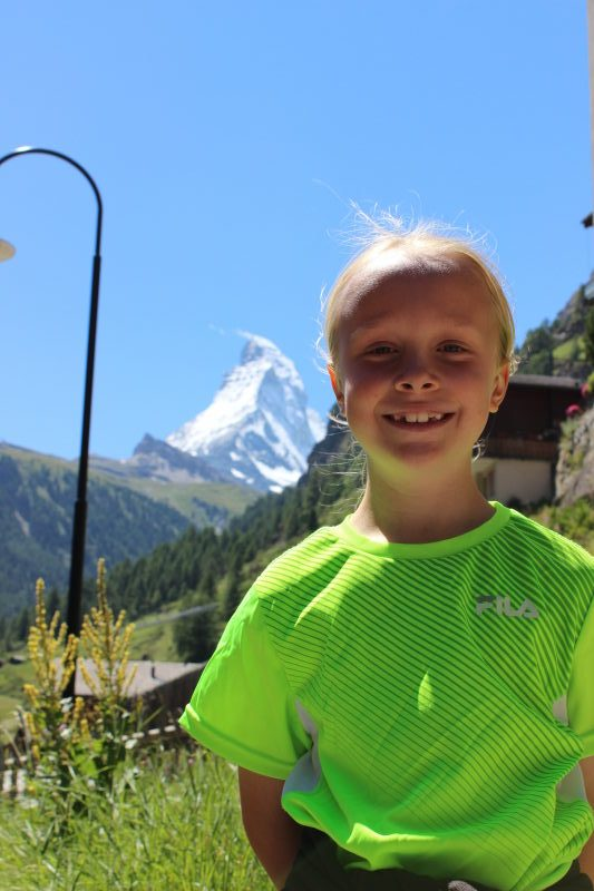Toren with the Matterhorn as backdrop in Zermatt.