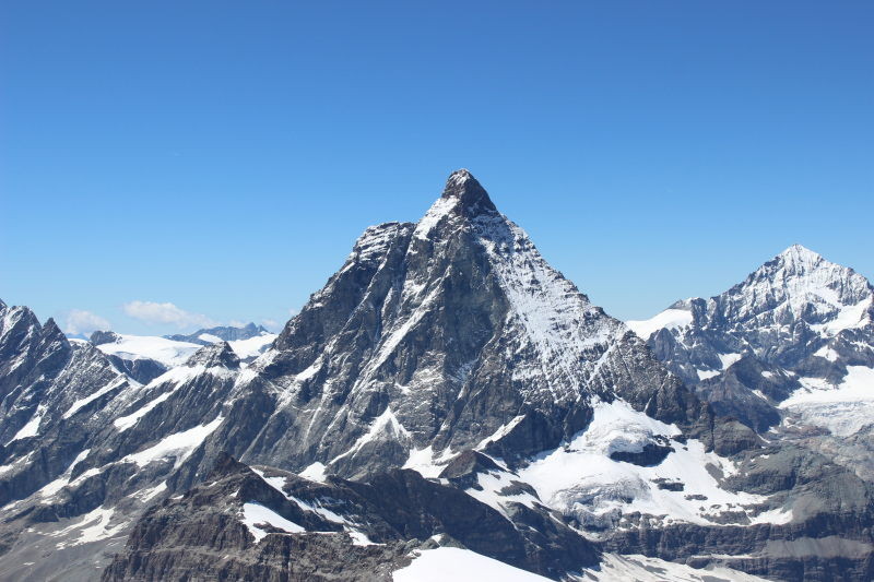 The Matterhorn from Matterhorn Glacier Paradise viewing platform.