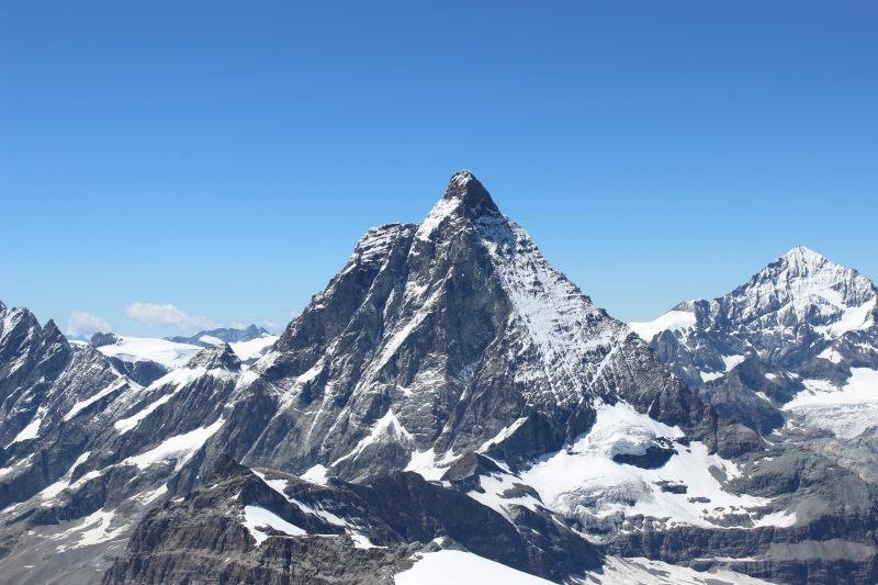 The Matterhorn from Matterhorn Glacier Paradise viewing platform.