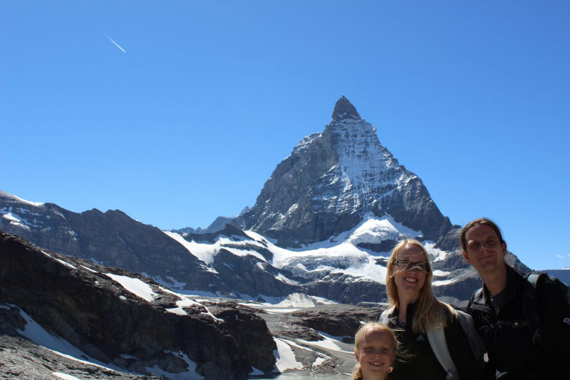 The three of us in front of the Matterhorn.