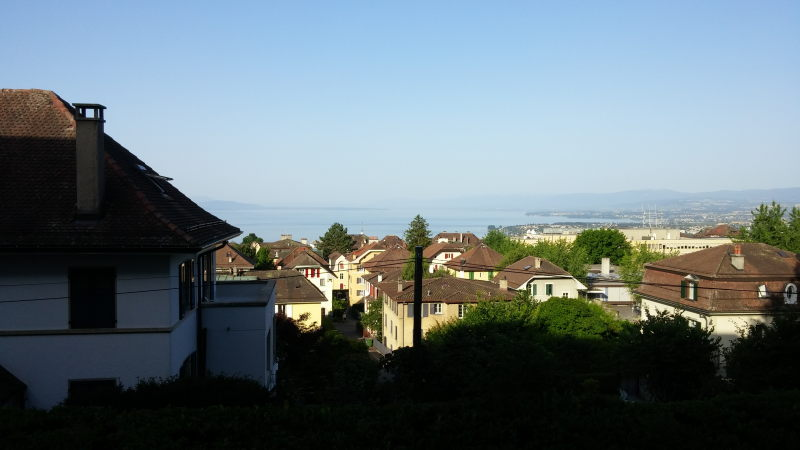 The view from our AirBnB in Lausanne.