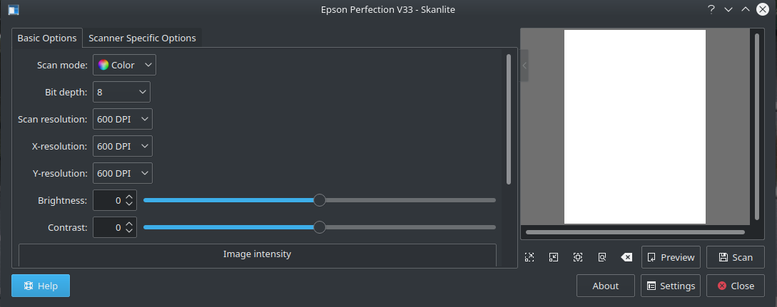Linux – Fixing the Epson (V33 Perfection) Scanner Issue in