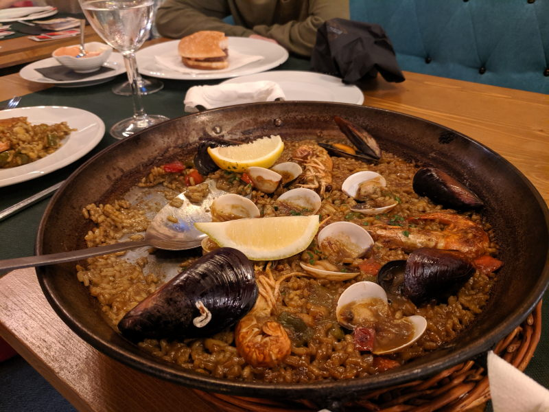Spanish paella in Barcelona