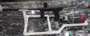 PVC paintball gun holder