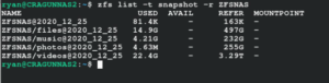 ZFS Snapshot Management